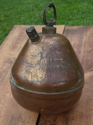 Vintage Copper / Brass Hanging Globe Fire Sprinkler Extinguisher