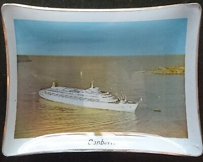 P&o Cruise Liner Ship 'canberra' Glass Dish - Look!