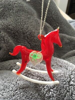 Crystal Rocking Horse SILVESTRI Heirloom Collection Christmas Ornament