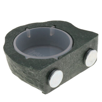 Magnetic Gecko Feeder Ledge For Gecko Diet / Reptile Food Holder Bowl Green