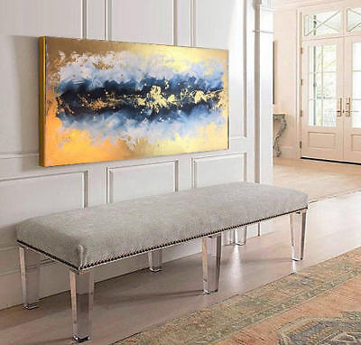 Gold Abstract Art, Wall Decor, Acrylic Painting, Oil Canvas, Abstract Painting