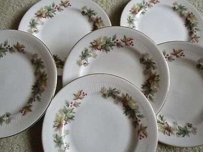 Vintage Royal Standard china LYNDALE Side plates x 6 lovely condition