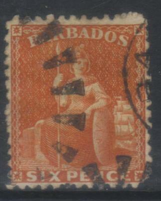 Barbados 1861-1870 Sg33 Used Cat £50