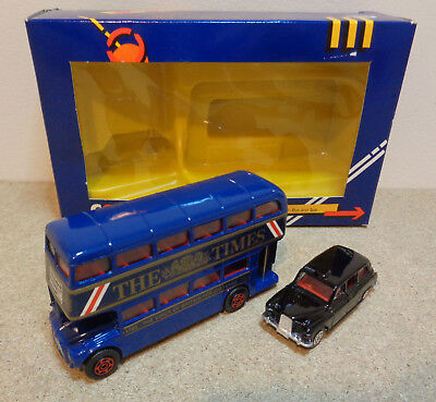 eae04273f CORGI 1365 LONDON Bus & Austin Taxi Gift Set In Original Box Rare Blue  version