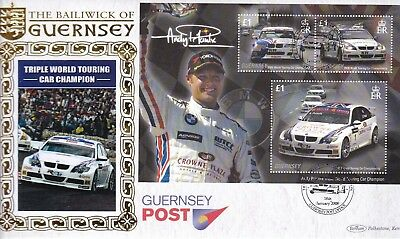 Guernsey 2008 Rally Cars Silk Fdc (16) Used