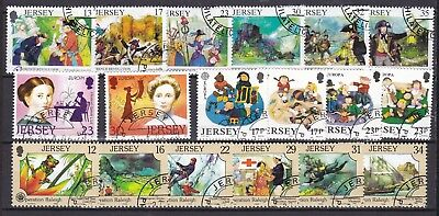 Jersey 1969 4 X Commemorative Sets (44) Used