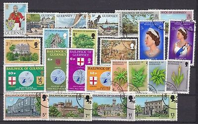 Guernsey 7 X Commemorative Sets (48) Used