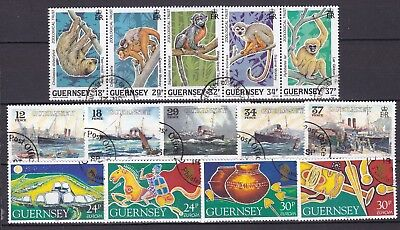 Guernsey 3 X Commemorative Sets (50) Used