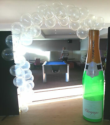 6 Foot Inflatable Champagne Bottle & Bubbles - For Weddings,Birthdays & Proms