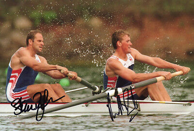 Steve Redgrave & Matthew Pinsent, Olympics rowing, signed 12x8 inch photo. COA.