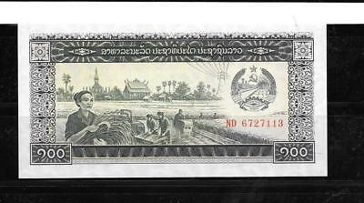 LAOS LAO #30a 1979 UNcirculated OLD 100 KIP BANKNOTE  NOTE PAPERMONEY CURRENC