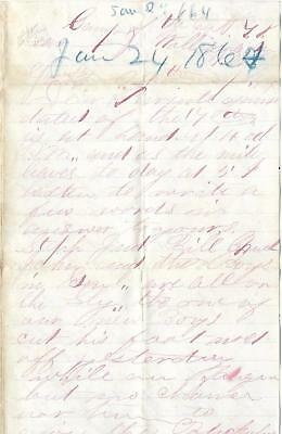 Union Soldiers Letter Ephraim Brown, 64th NY Vols, Willismaden, Va to Parents