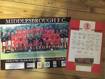 DIN2 Poster Middlesbrough FC 2000 Football Soccer printed Autograph autogramm