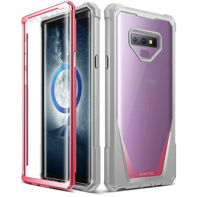 Galaxy Note 9 Case Poetic® Hybrid Shockproof Clear Back TPU Bumper Cover Pink