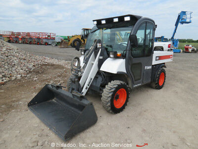 2006 Bobcat 5600 Toolcat Utility Work Vehicle Front Loader Bucket Cab A/C AuxHyd