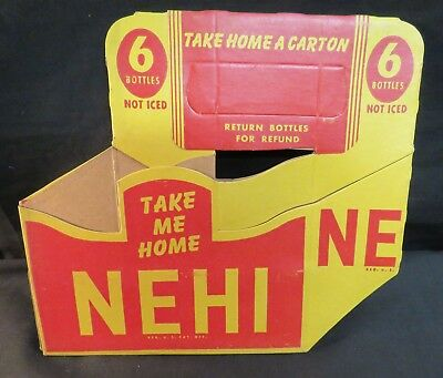 Vintage NEHI Cardboard Six Pack Bottle Carrier, Unused