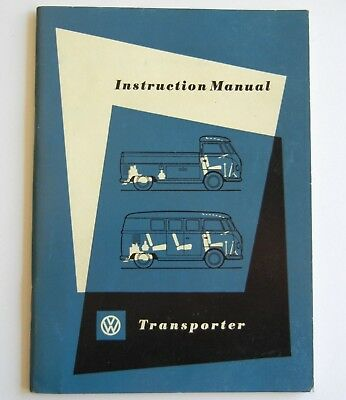 Vtg August 1958 Orig VW Volkswagen TRANSPORTER Bus INSTRUCTION Owner's MANUAL