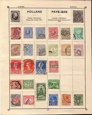 album page of stamps from holland . some victorian . from a private collection