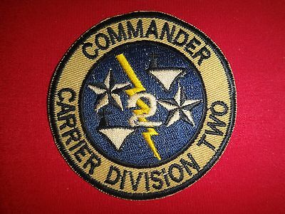 US Navy COMMANDER CARRIER DIVISION TWO CARDIV-2 Vietnam War Patch