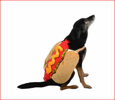 Halloween Pet Costume HOT DOG w/Mustard Relish - XS X-Small up to 10 lbs *NEW*