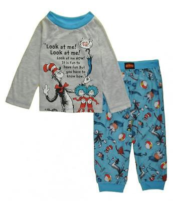Dr. Seuss Toddler Boys Two-Piece Cat In The Hat Pajama Pant Set Size 2T 3T 4T