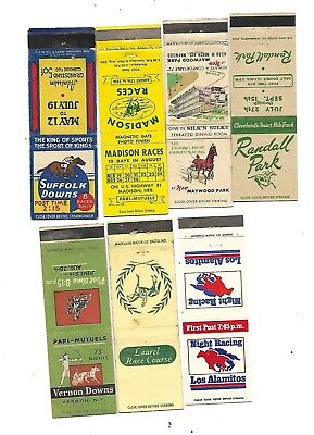 7  Horse Racing Tracks  Matchcovers