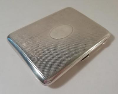 Antique Silver Card Case / Aide Memoire With Leather Interior: Birmingham 1897