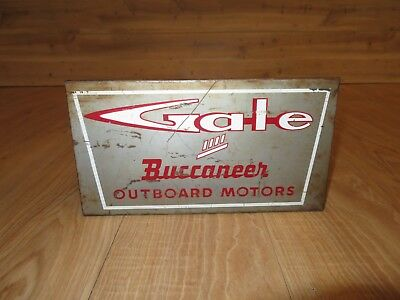 1950's Gale Buccaneer Outboard Motors Counter Display Parts Catalog Rack Sign