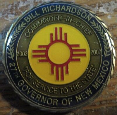 2007 Bill Richardson Governor of New Mexico Challenge Coin Medal Token - NM