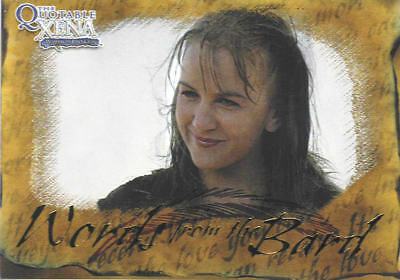 XENA WARRIOR PRINCESS  1 SPECIAL TRADING CARD words from the bard #B5 Gabrielle