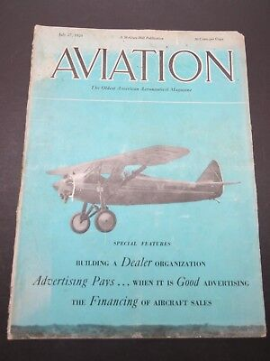 7/27/1929 Aviation - Boeing 100 Sport Plane / Spartan C-3 / Ford Motor Co. Acrft