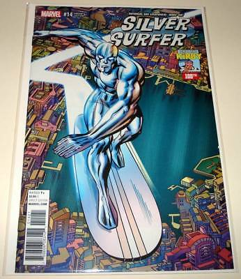 SILVER SURFER # 14 Marvel Comic (Dec 2017)  NM    Kirby 100th VARIANT COVER