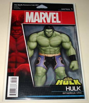 TOTALLY AWESOME HULK  # 1 Marvel Comic  (Feb 2016) VFN/NM ACTION FIGURE VARIANT