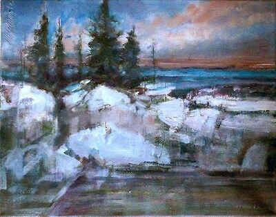 Greenland 11x14 in. Original Oil on canvas Hall Groat Sr.