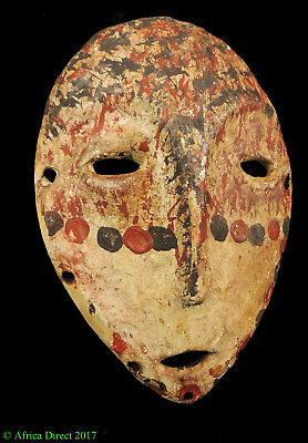 Lega Mask White Spotted Face Congo Africa SALE WAS $295