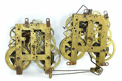 Two Sessions 8 Day Time & Strike Mantle Clock Movements - Parts Or Repair - Ri70