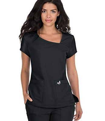 Koi Mariposa Medical Scrub Set Maria Pant 728 & Tara Top 363 Medium Black New