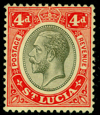 ST. LUCIA SG101, 4d black & red/yellow, M MINT.