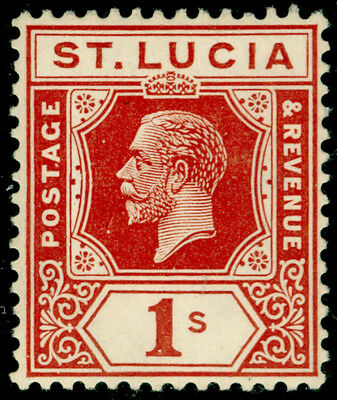 ST. LUCIA SG103, 1s orange-brown, M MINT.