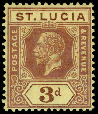 ST. LUCIA SG100, 3d purple/pale yellow, M MINT.