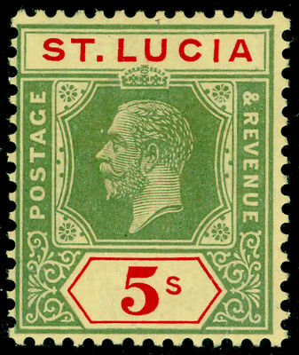 ST. LUCIA SG105, 5s green & red/pale yellow, NH MINT. Cat £60.
