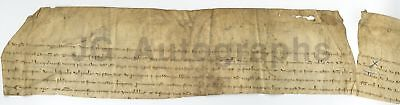 1313 - Nearly 700 Year Old French Antique Doc. - Partial Section of Document
