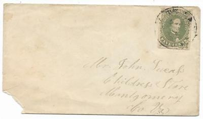 CSA Cover Mailed to John Lucass at Childress Store, Va. with CS #1 Stamp