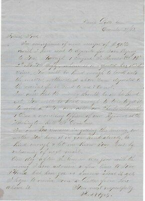 Union Soldiers Letter Ferd Vogel, 2nd Missouri Cal to Friend to Collect Money