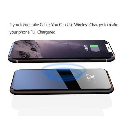 10000mAh Wireless Charger Dual USB External Power Bank for iPhone X Samsung S8