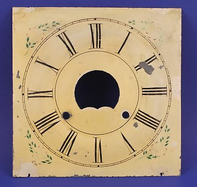 """Antique 8-3/8"""" Square Painted Metal Dial - Mp34"""