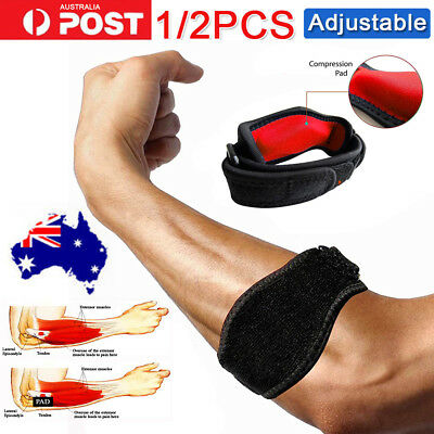 Adjustable Tennis/Golf Elbow Support Brace Strap Forearm Protector Pain Relief A