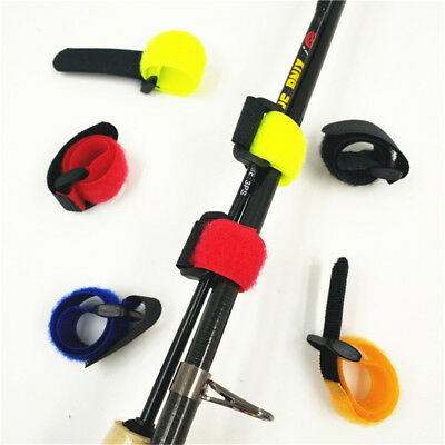 10pcs Outdoor Reusable Belt Fastener Fishing Rod Tie Fishing Battery Straps HQ