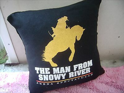 Man From Snowny River     Cushion 16 Inch/ 40 Cm