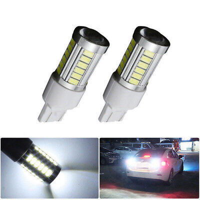 1 Pair T20 6000K White 7440 7443 5630 33SMD LED Car Rear Lamp Backup Lights Bulb